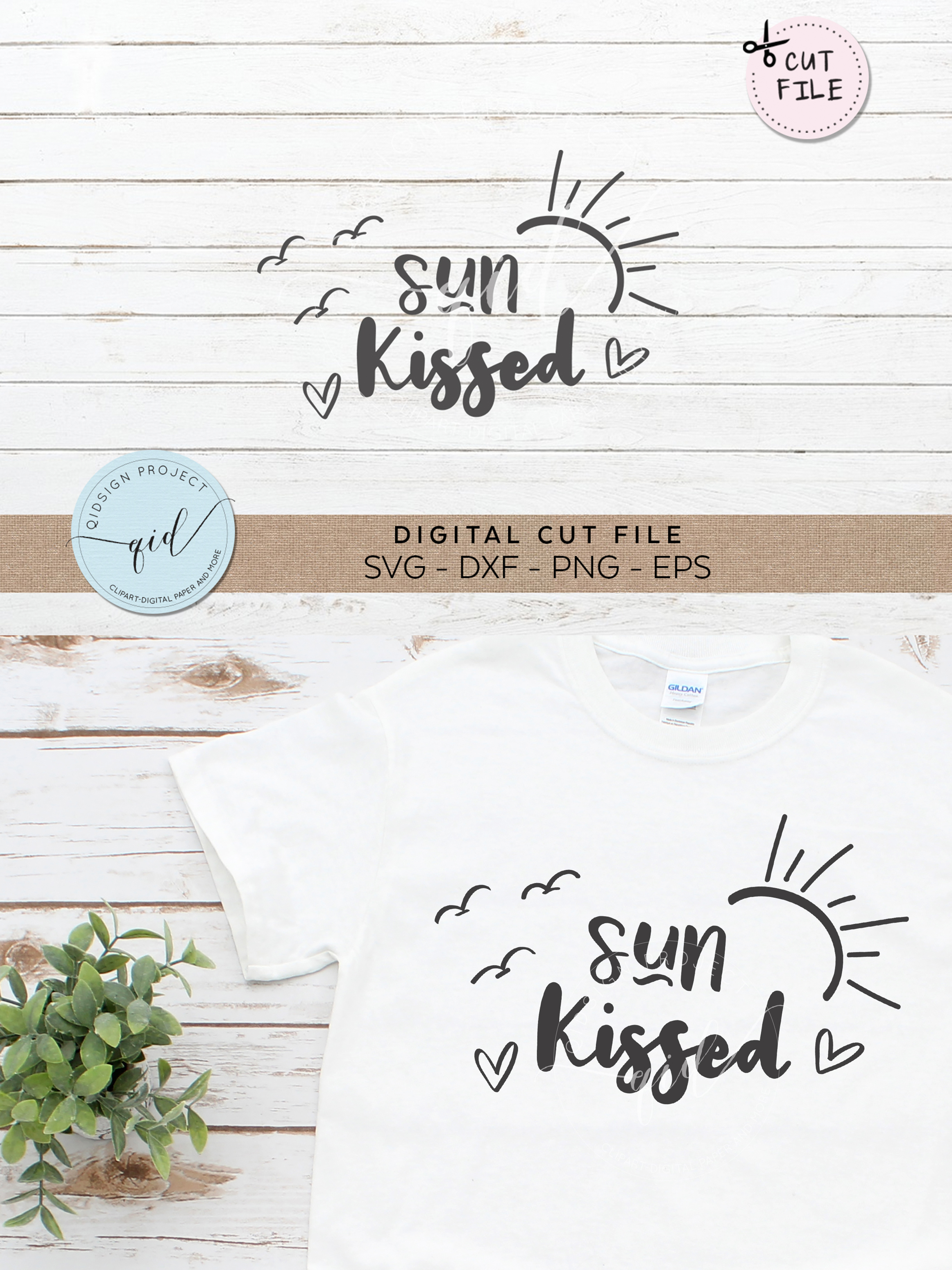 Sun Kissed SVG DXF PNG EPS example image 2