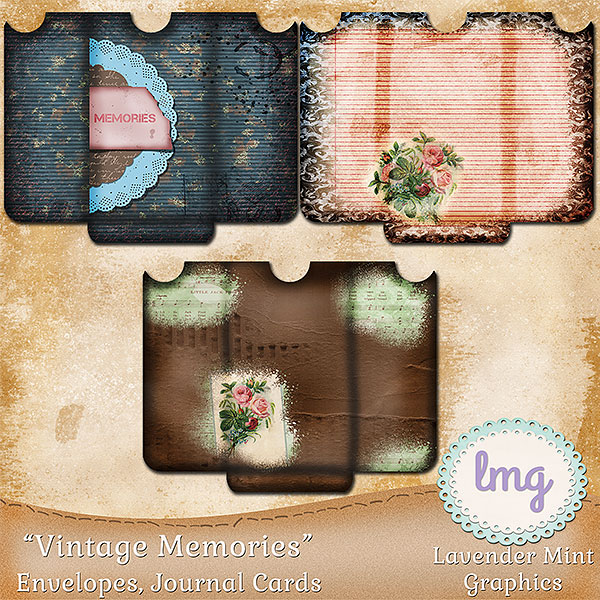 Vintage Memories Junk Journal Envelopes example image 3