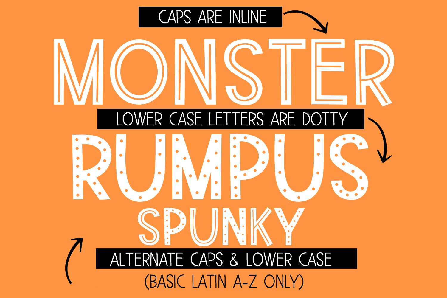 Monster Rumpus Font Family example image 4