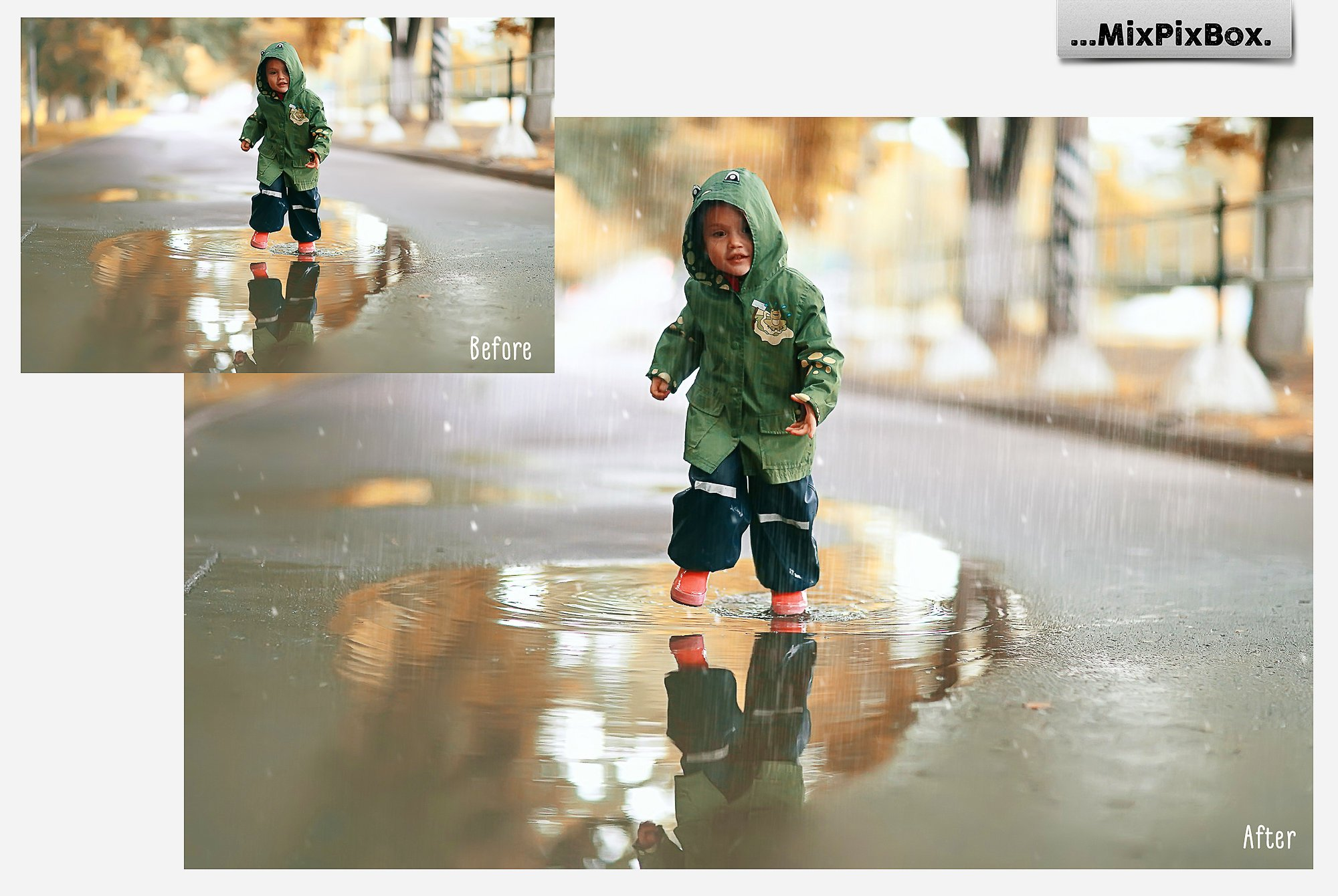 Realistic Rain Photo Overlays example image 3