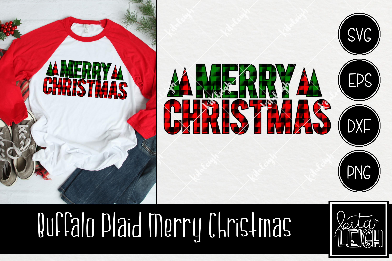 Buffalo Plaid Christmas Bundle SVG example image 4
