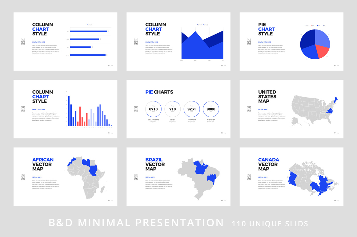 B&D-Powerpoint & Keynote Template example image 12
