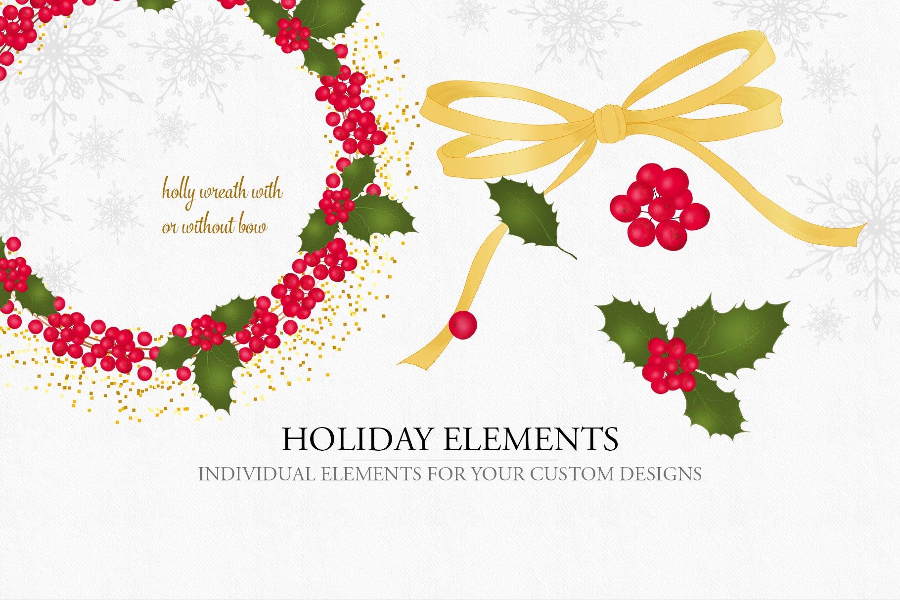 Holiday Alphabet Design Set example image 6