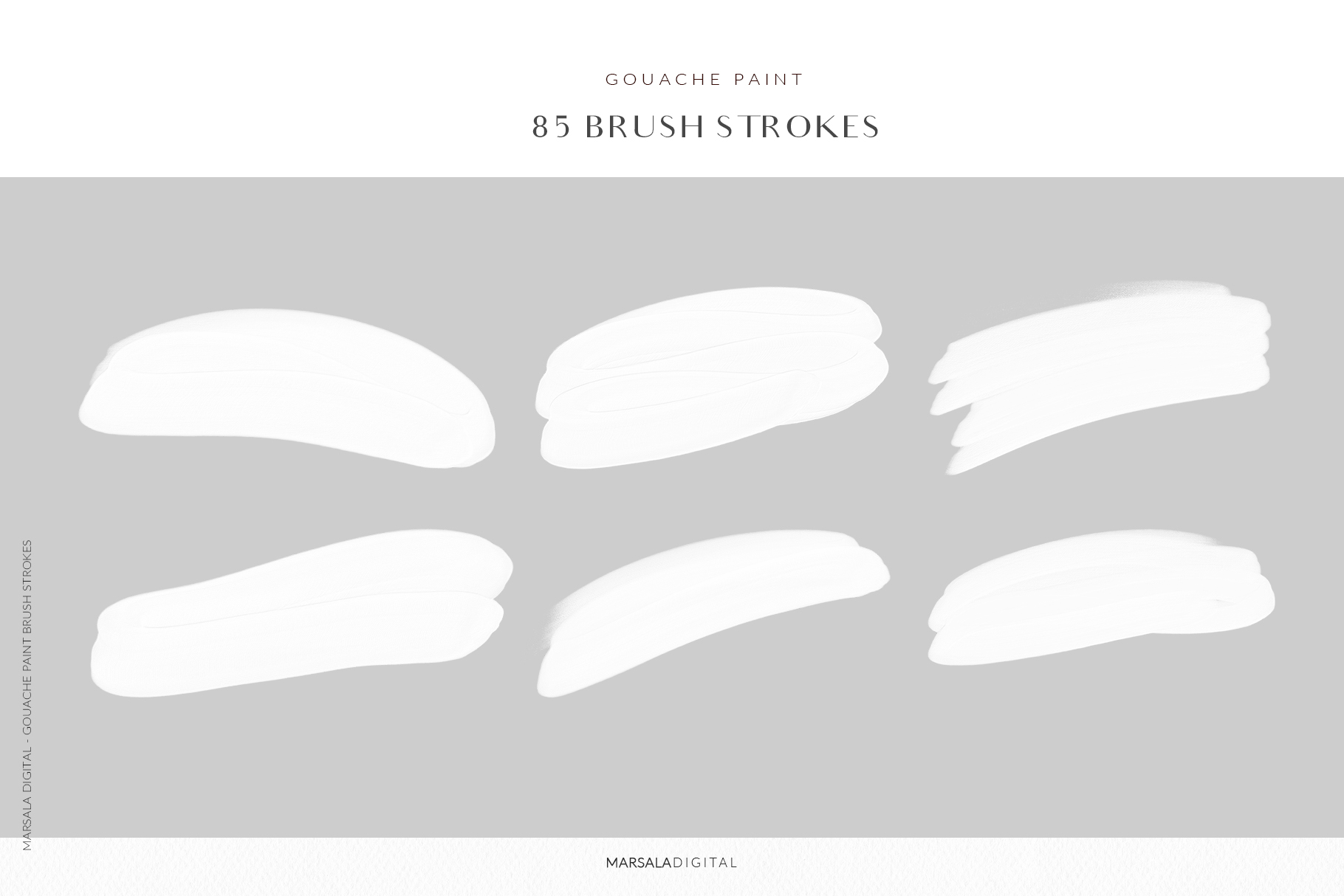Blush Pink Brush Strokes Clipart example image 8