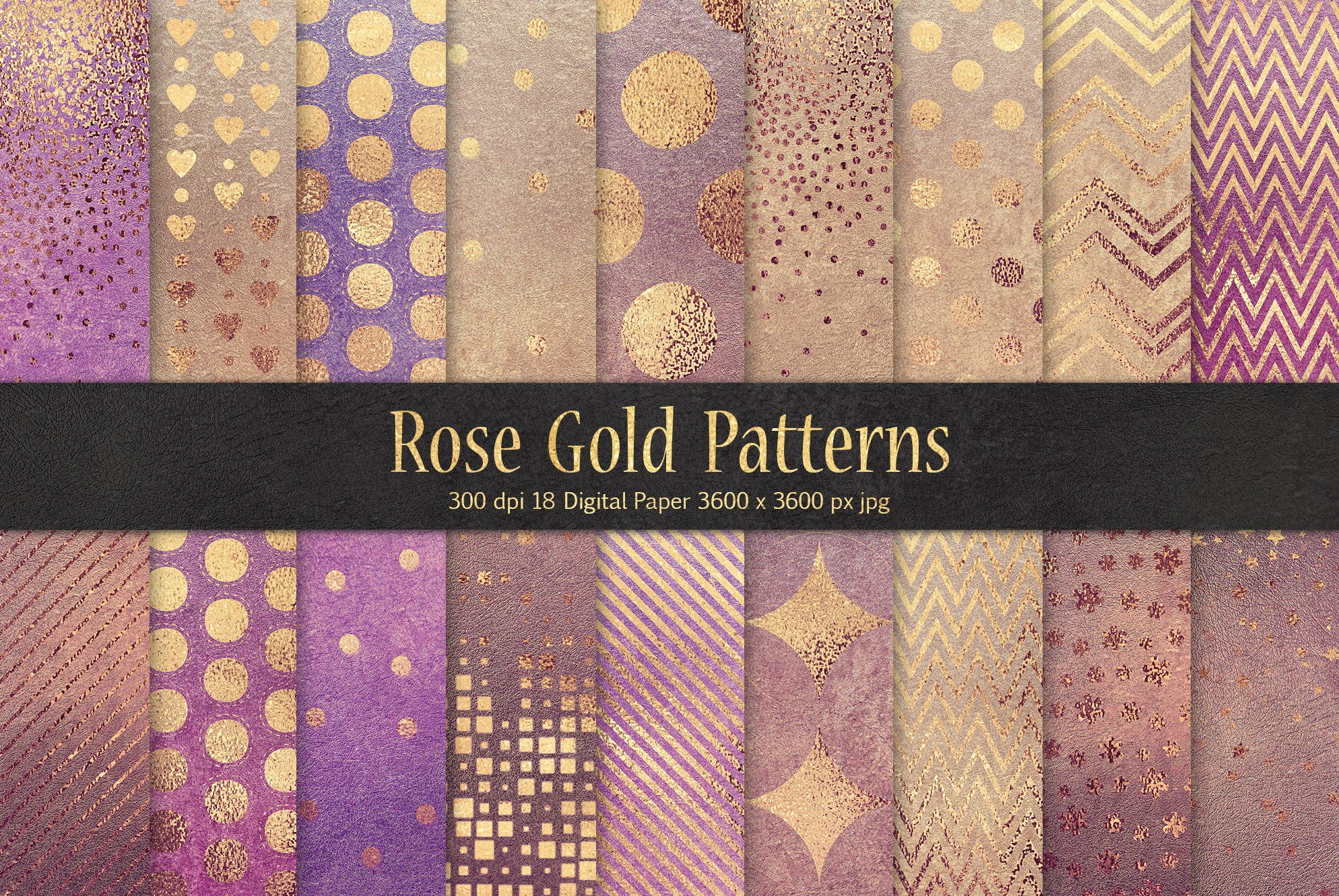 Rose Gold Pattern & Textures example image 1