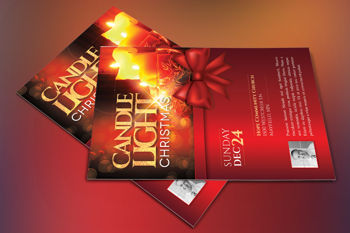 Christmas Candle Light Flyer Poster Template example image 5