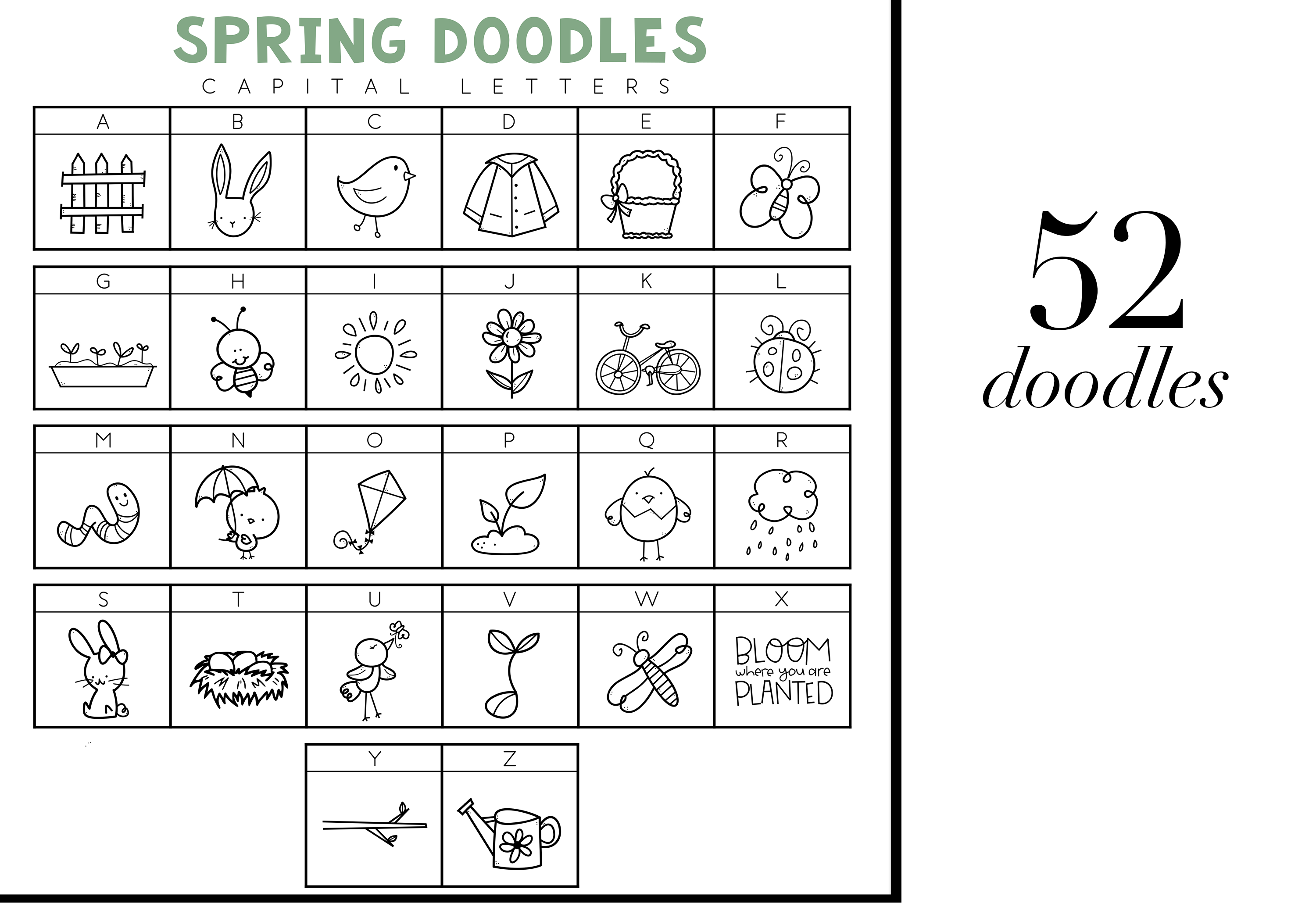 Spring Fling - A Doodle Font example image 2