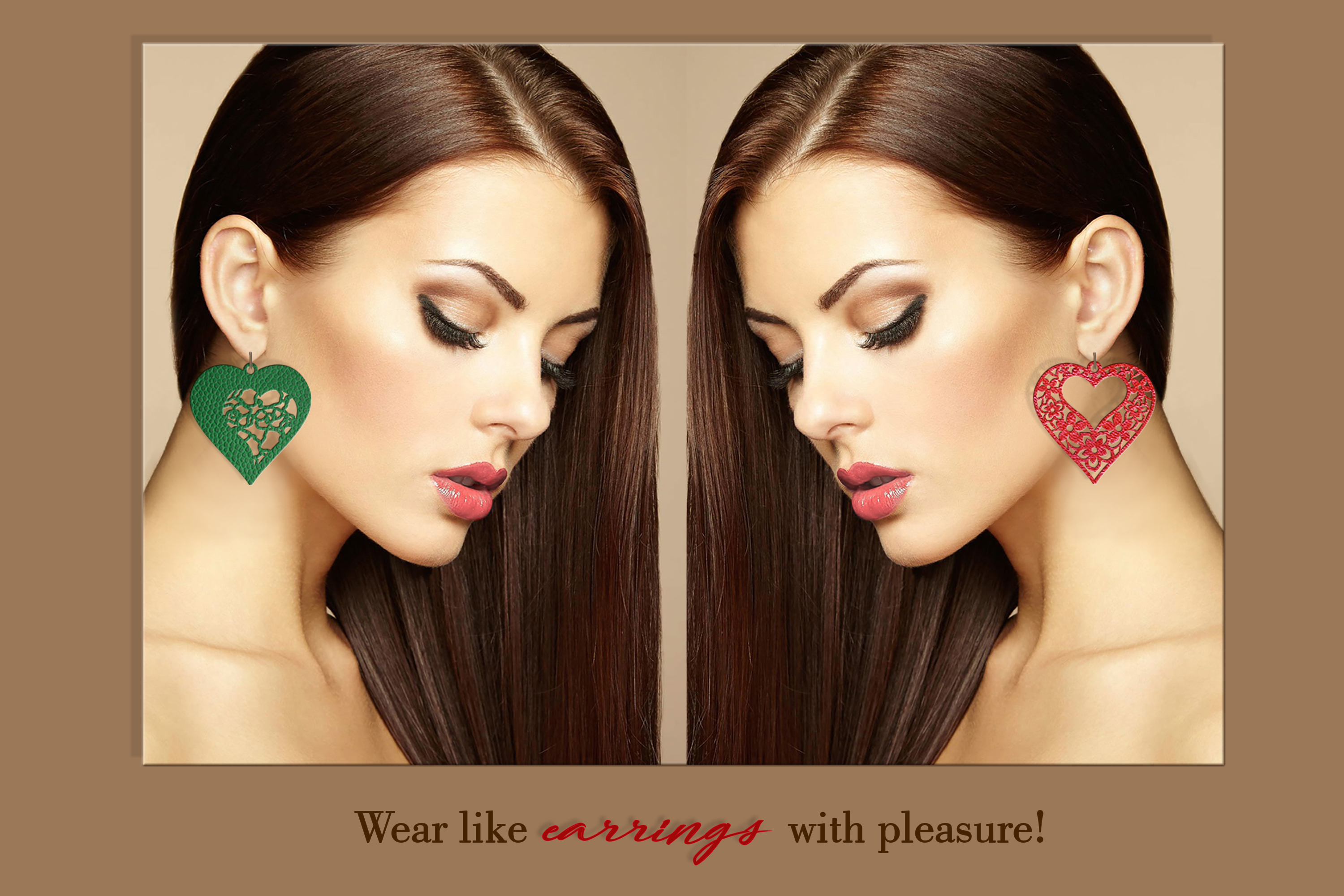 10 Valentine Love earrings svg Leather earrings svg Necklace example image 5