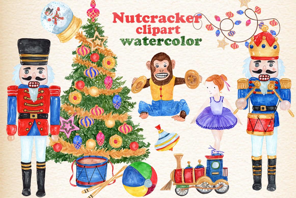 Bundle Watercolor Christmas Kids Clipart example image 2