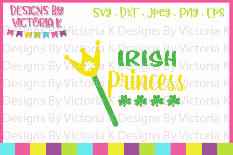 St Patrick's Day, Irish Princess svg, SVG, DXF, PNG example image 1
