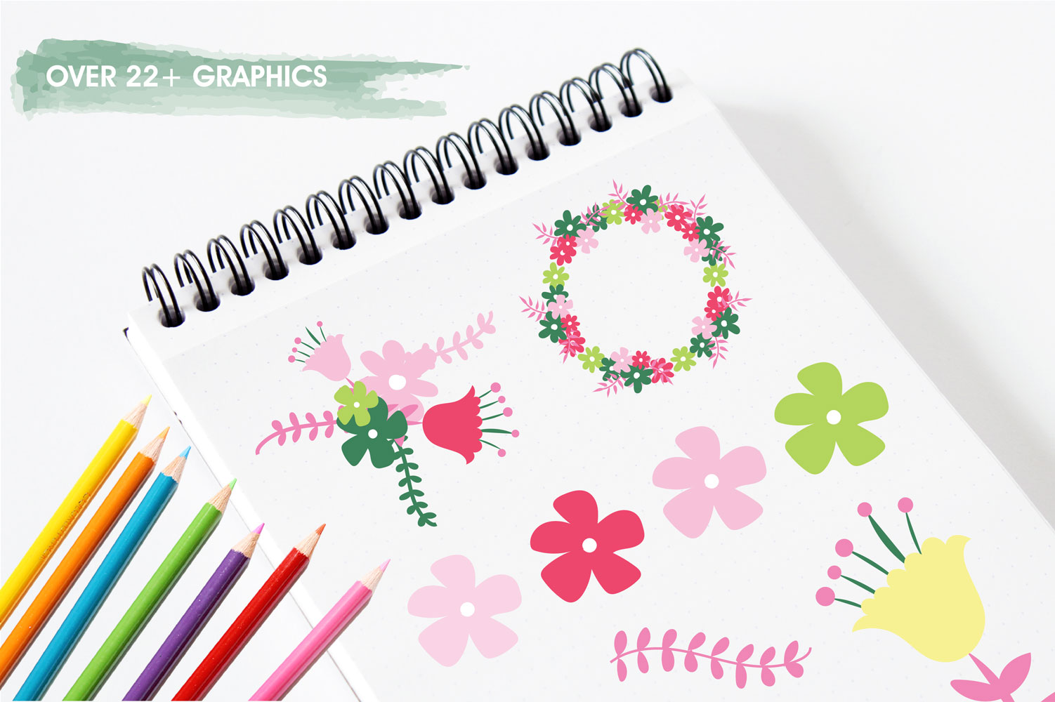 Hello Spring Cute Graphics example image 3