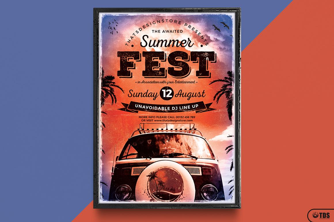 Summer Fest Flyer Template V2 example image 6