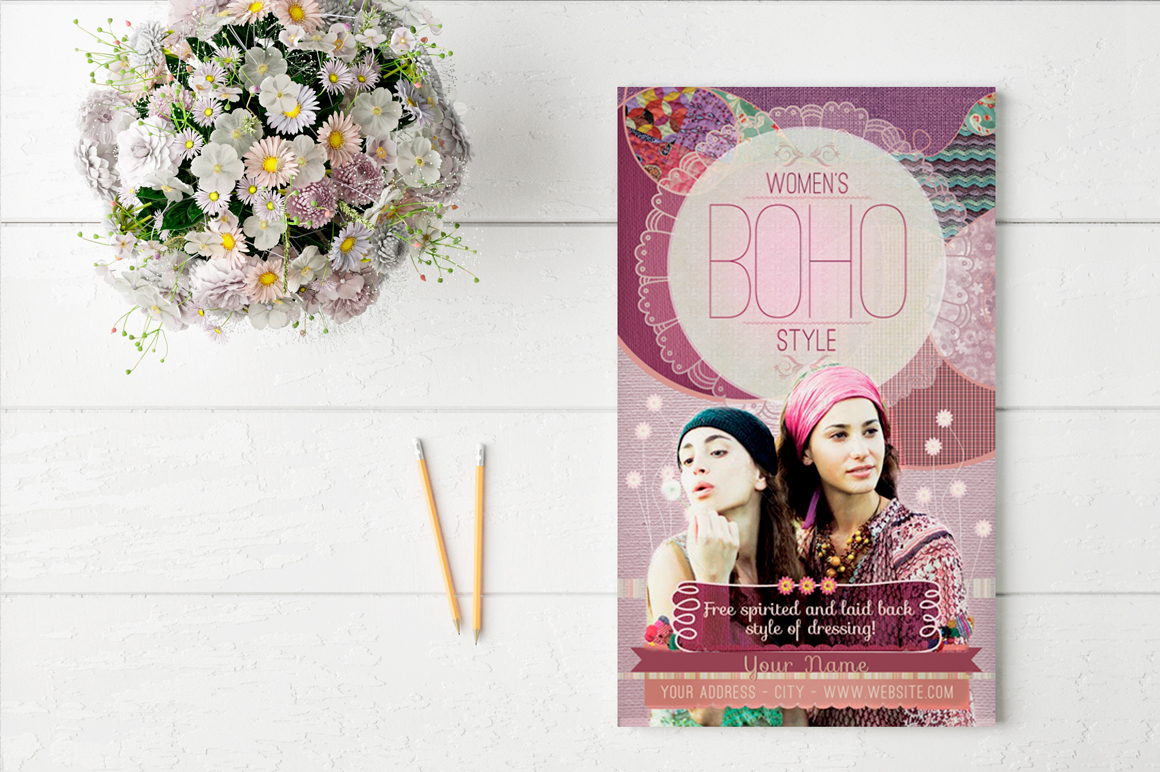 Women's Boho Style Flyer Template example image 3