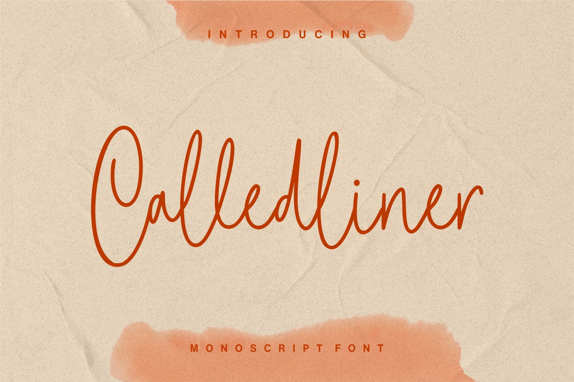 Calledliner - Monoscript Font example image 1