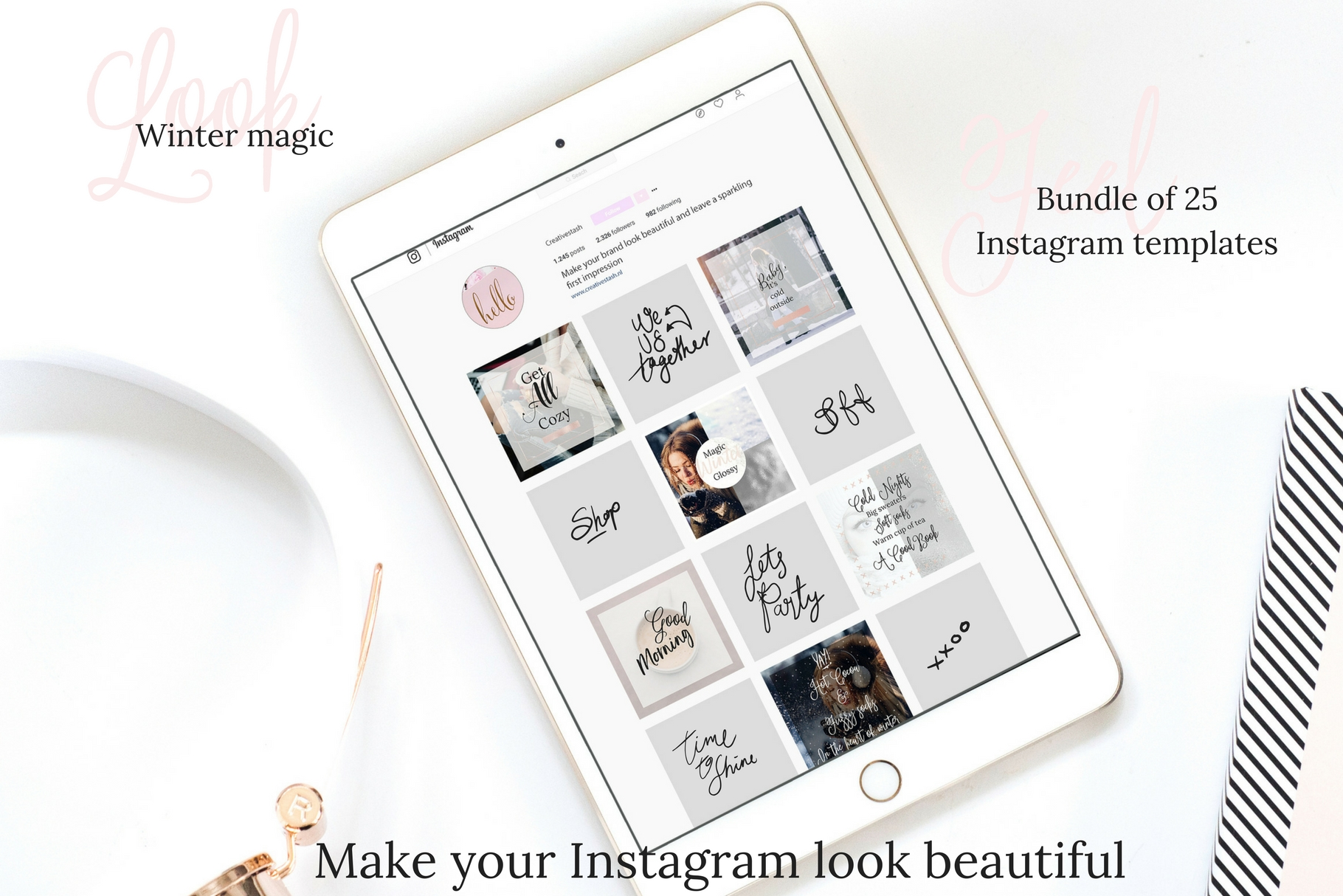 Instagram winter bundle example image 3