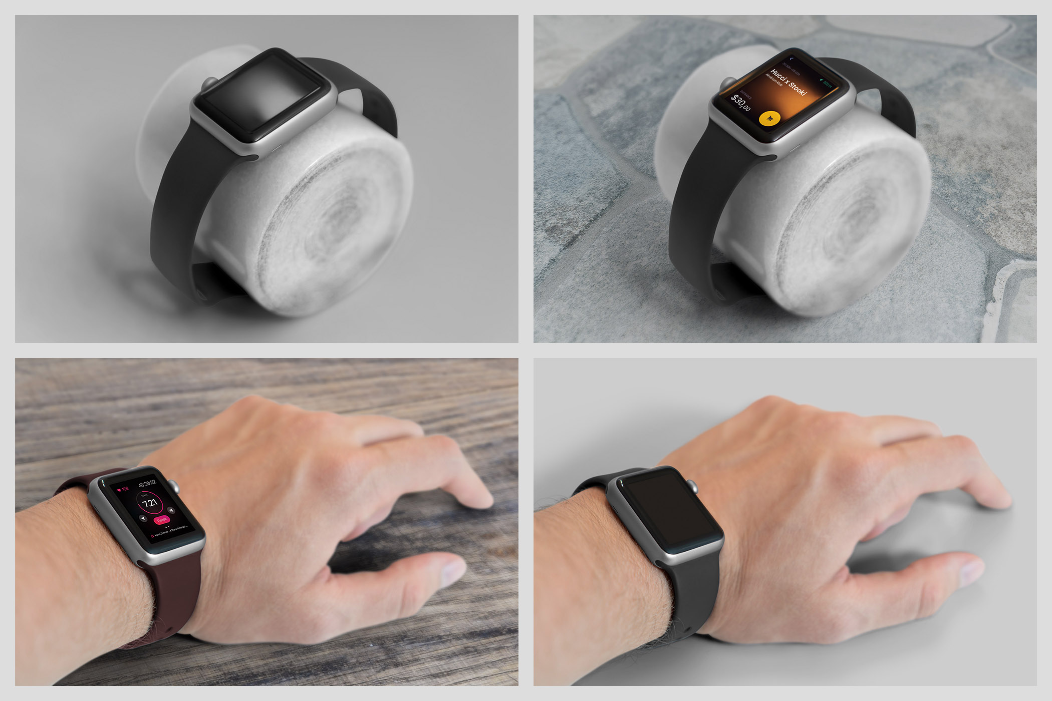 Realistic Smart Watch Mockups example image 13