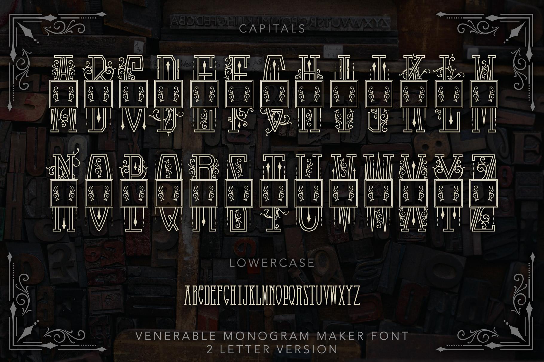 Venerable Monogram Maker Font example image 4