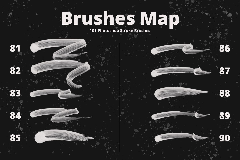 101 Photoshop Paint Stroke Brushes example image 11