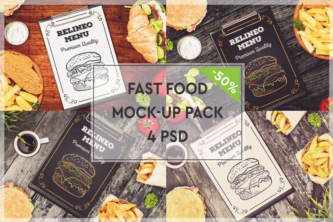 Fast Food Menu Mock-up Pack#2 example image 1