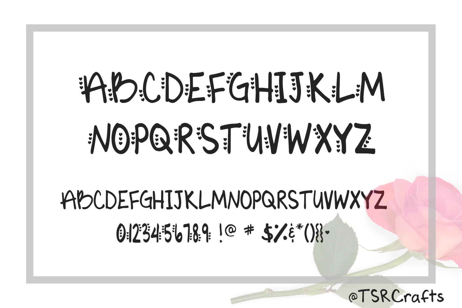 Monogram font - Vic's Love Letters example image 2