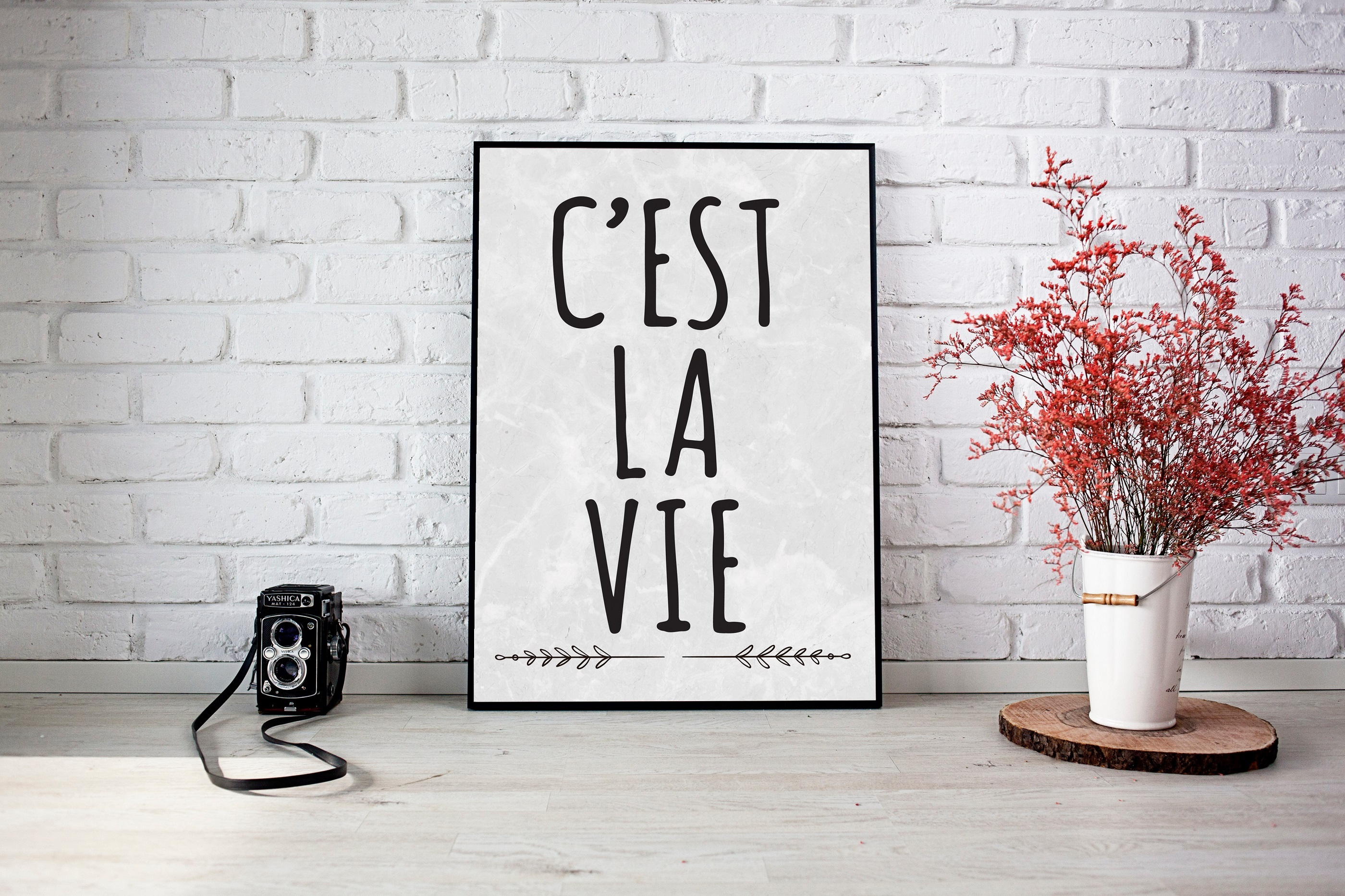 C'est la vie Printable Designc   SVG Cut File   example image 2