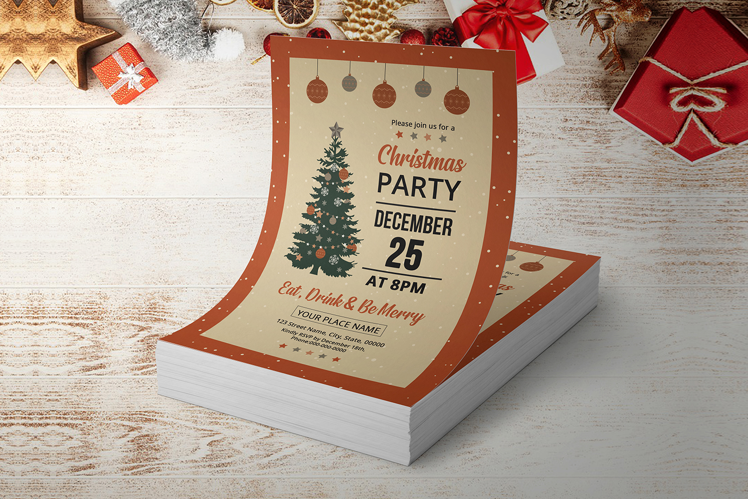 Christmas Party Flyer example image 3