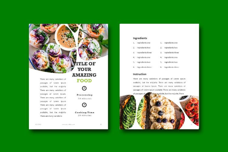 Recipe eBook Template - Vegan Recipe Theme example image 6