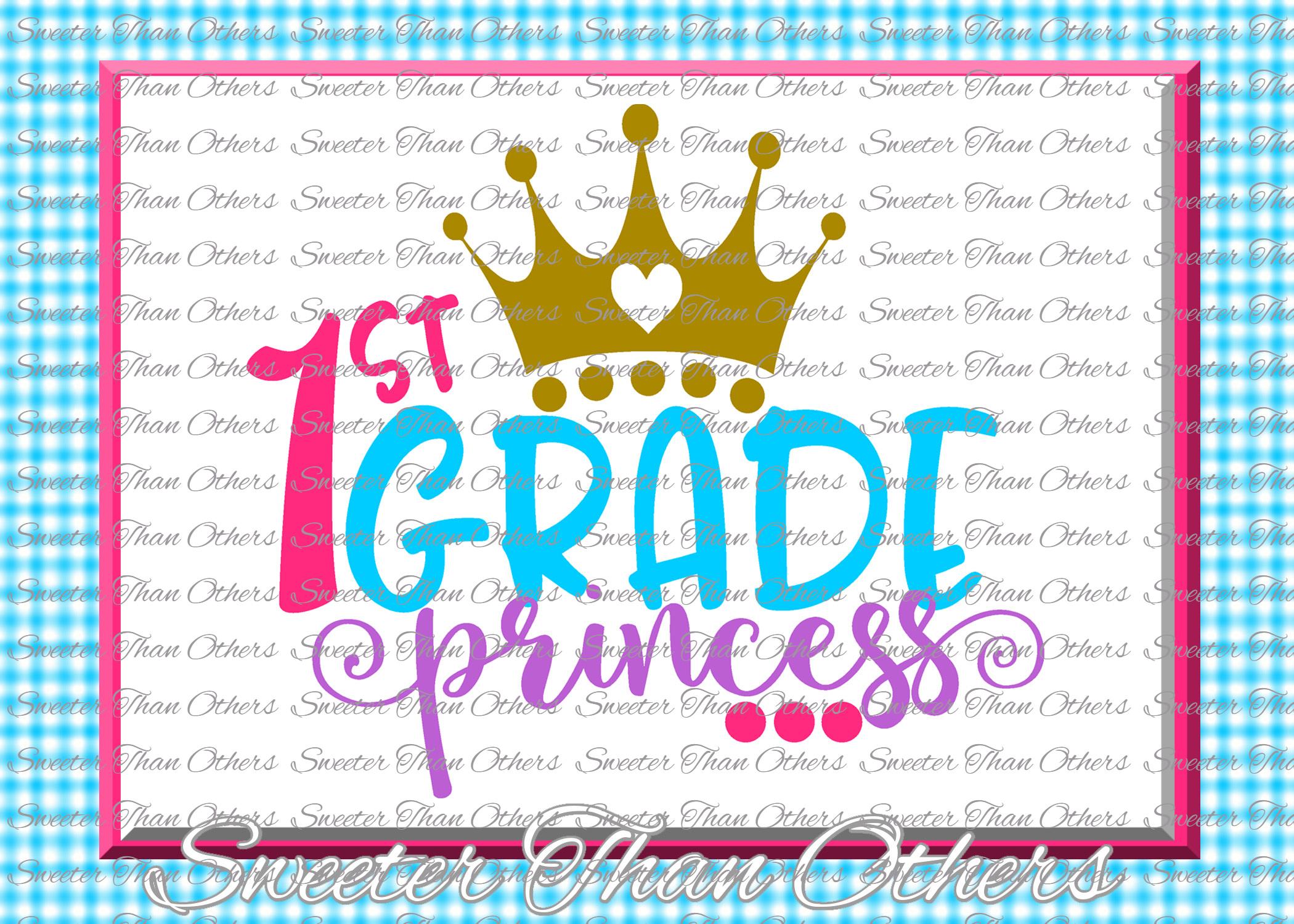 School Princess SVG Bundle Kindergarten First Day of School example image 2