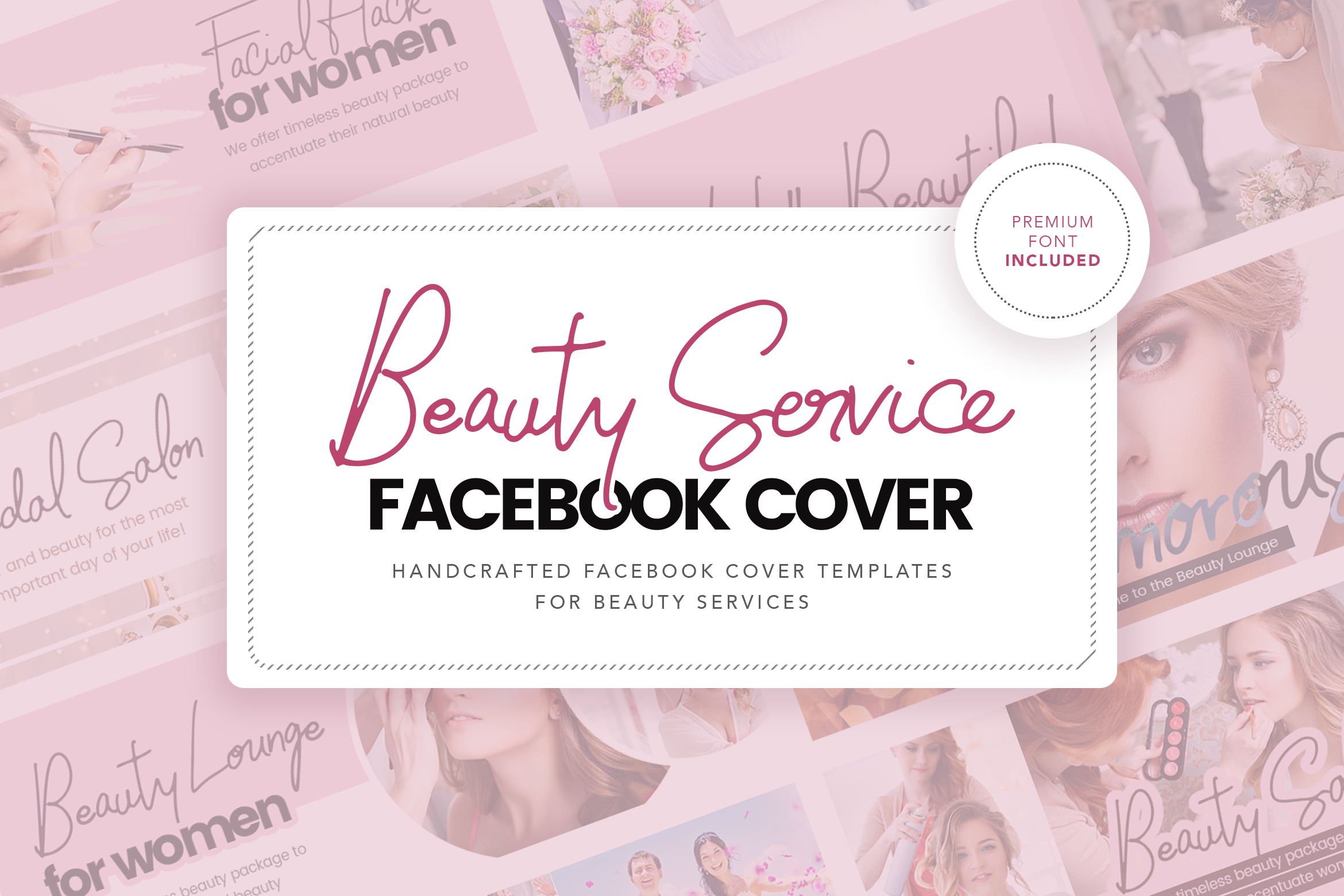 Beauty Service Facebook Cover Template example image 1