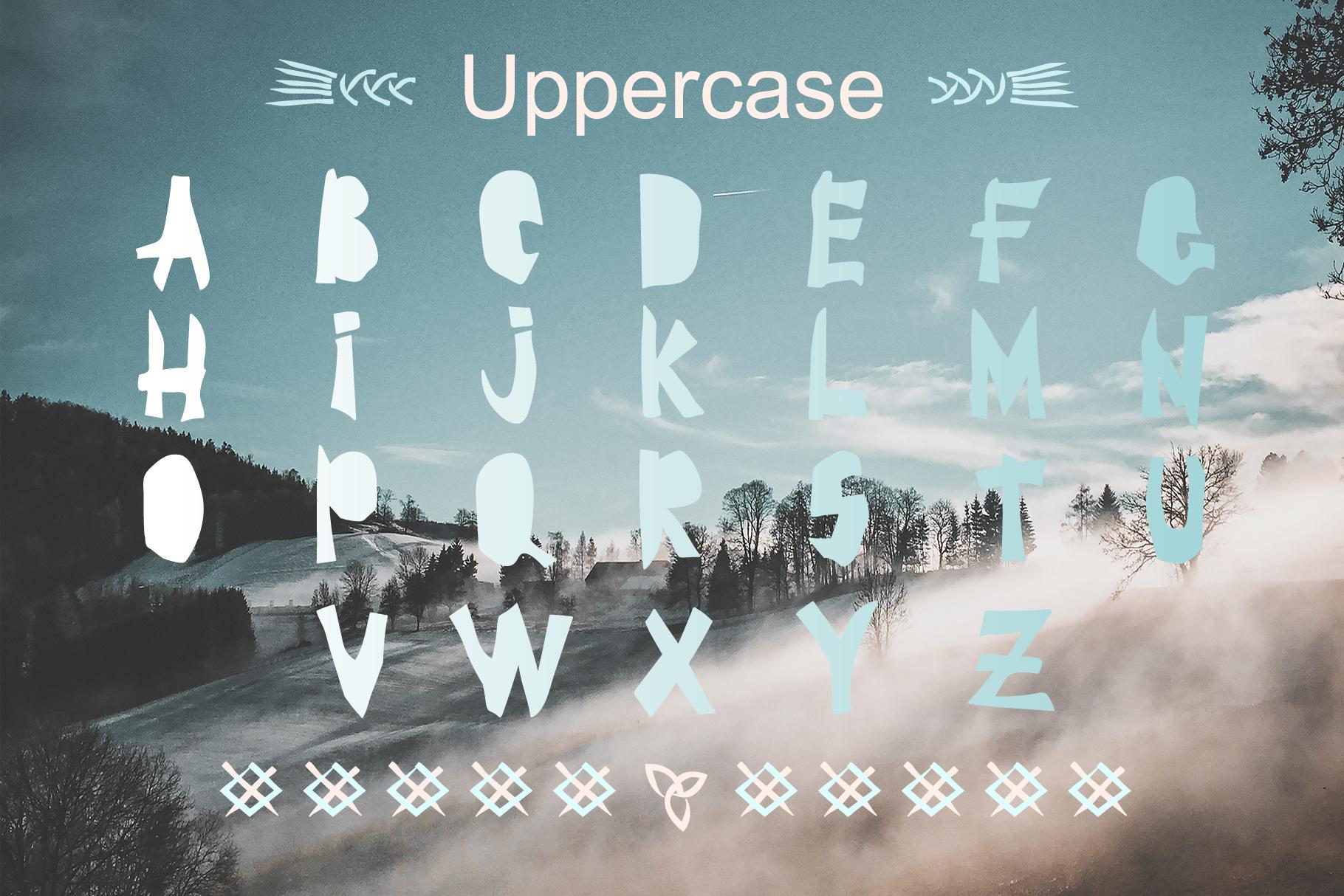 BRAVE-VIKING OTF font example image 4
