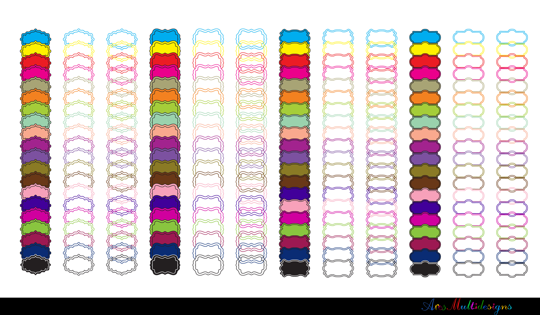 Label clipart bundle / digital label clipart bundle / frames bundle / high quality frames / digital frames clip art / label clipart example image 12