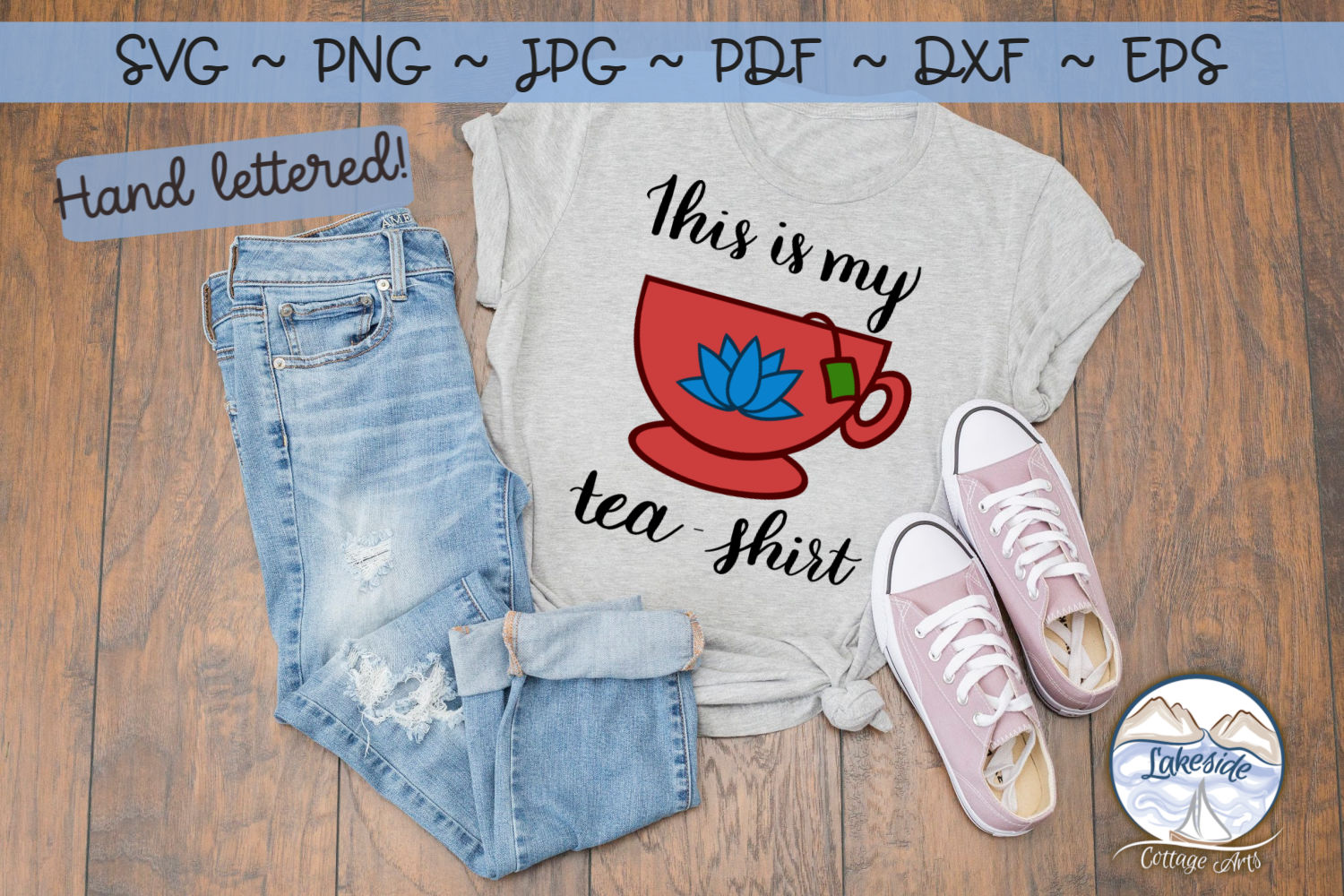 This is my Tea Shirt- Tea svg dxf example image 2