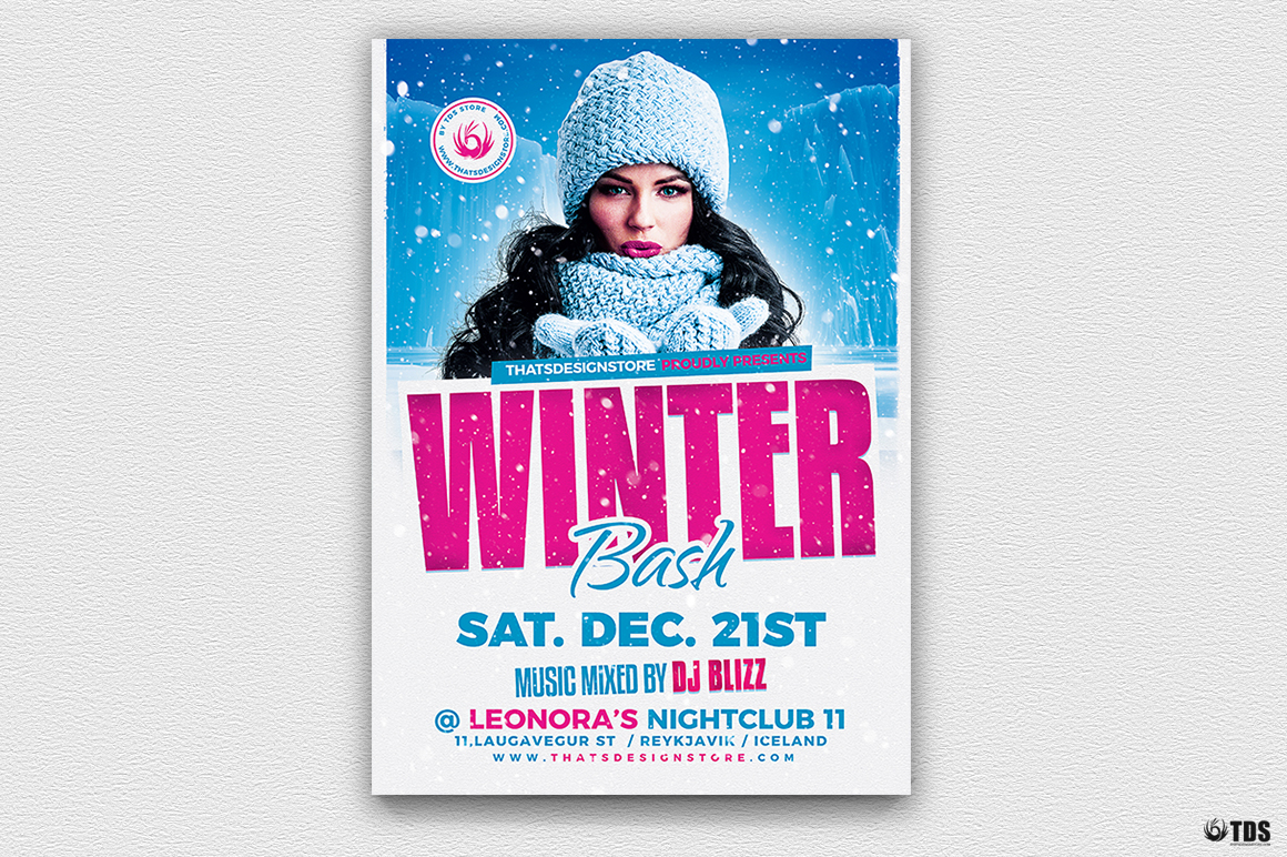 Winter Bash Flyer Bundle example image 2