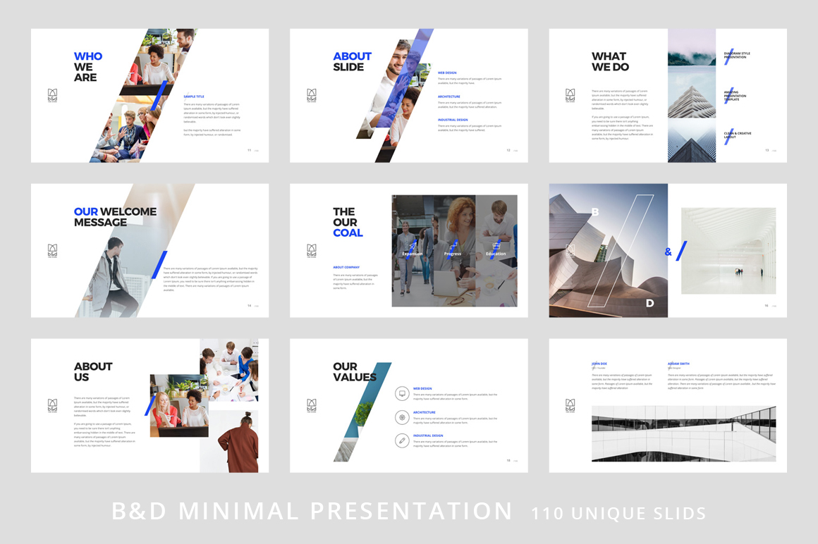 B&D-Powerpoint & Keynote Template example image 3