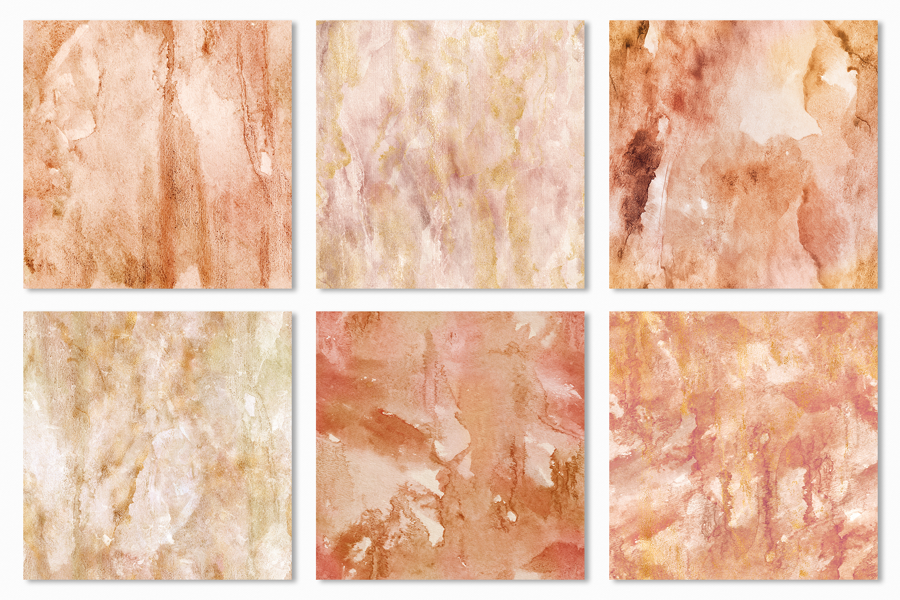 20 Seamless Watercolor Textures - Burnt Orange Backgrounds example image 20