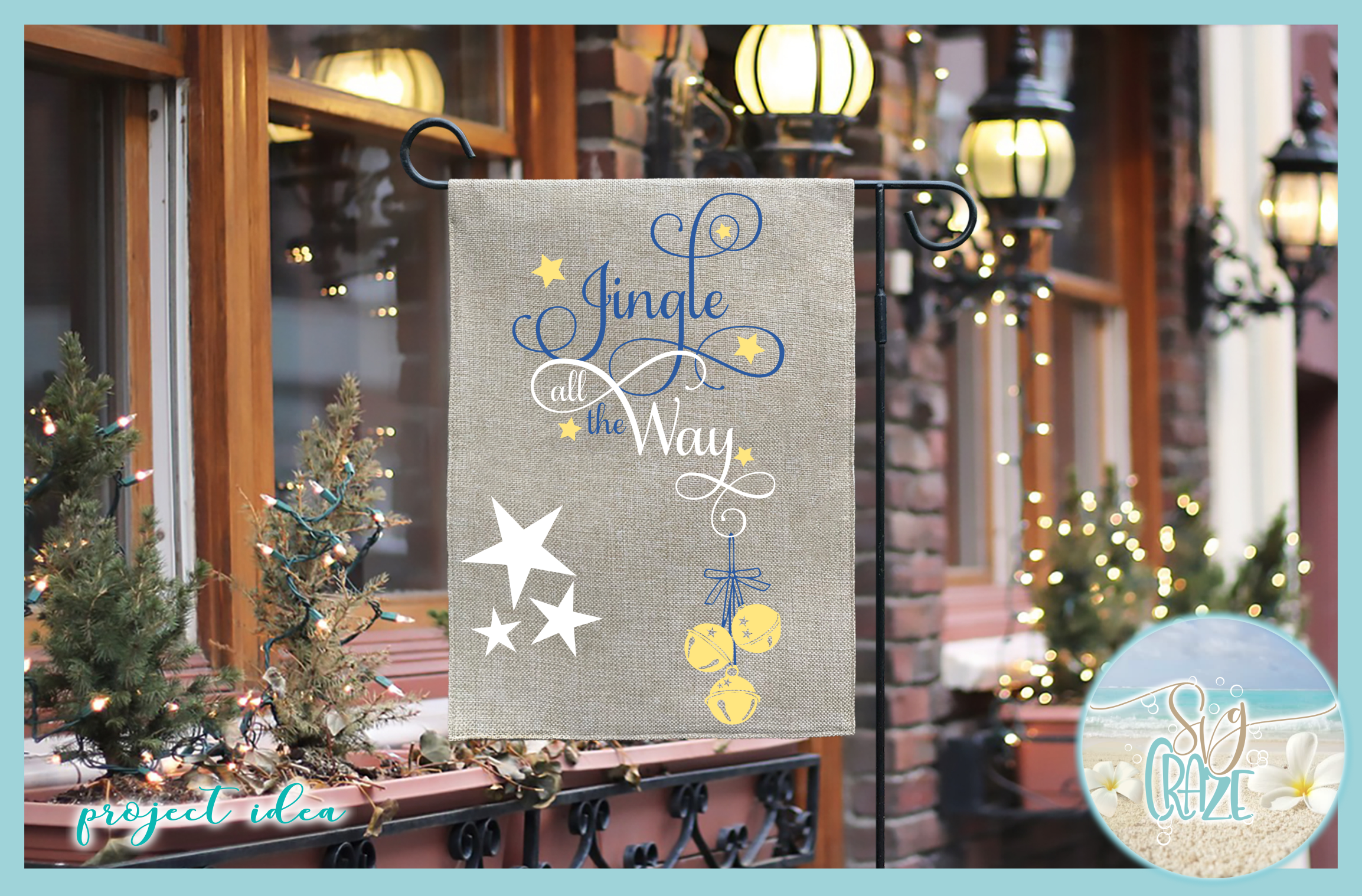 Jingle All The Way Christmas Holiday Quote SVG example image 2