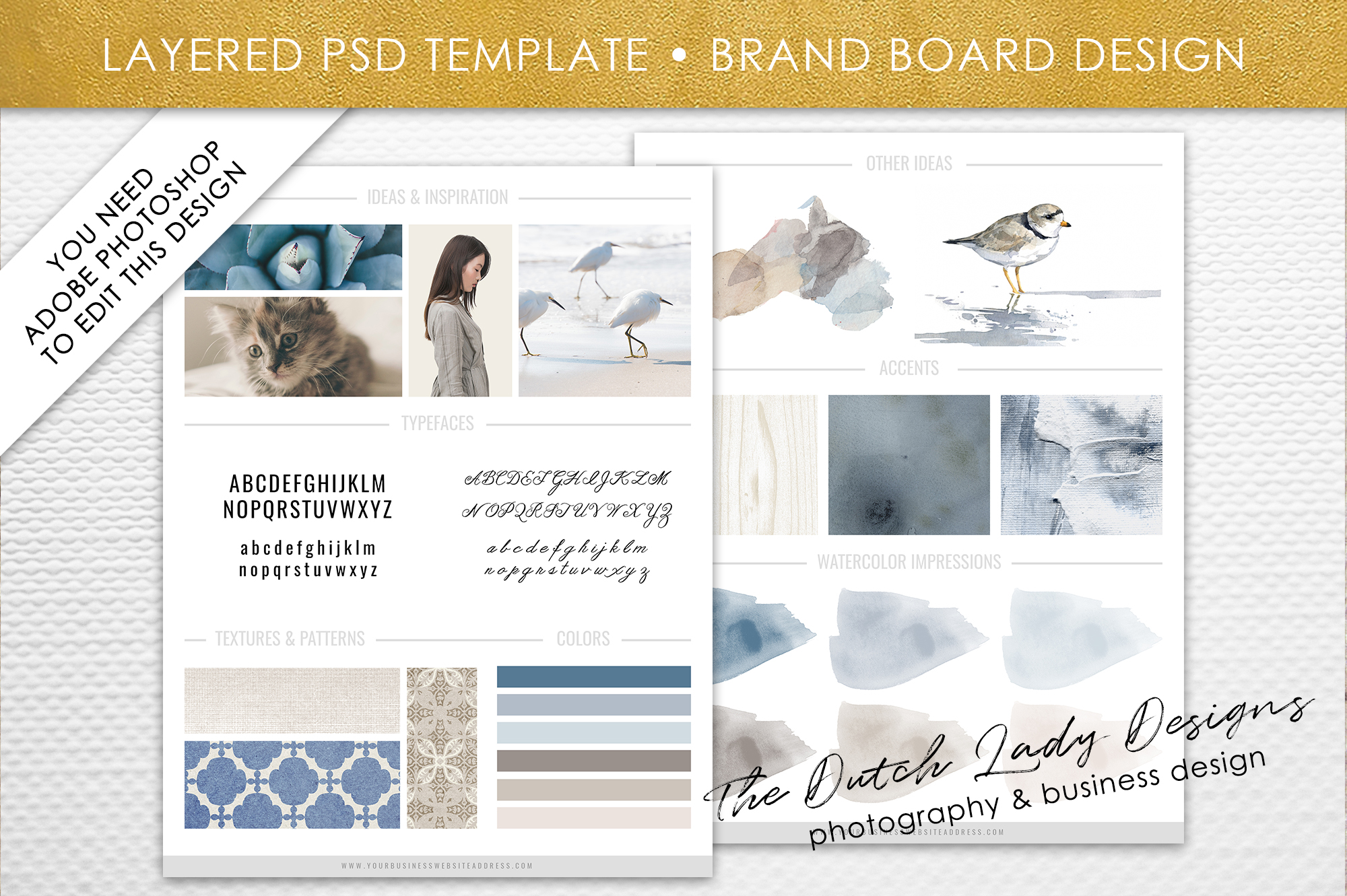 psd brand design board template design 4