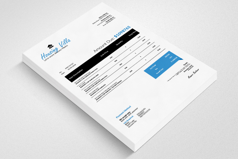 4 Format Invoice Template example image 2