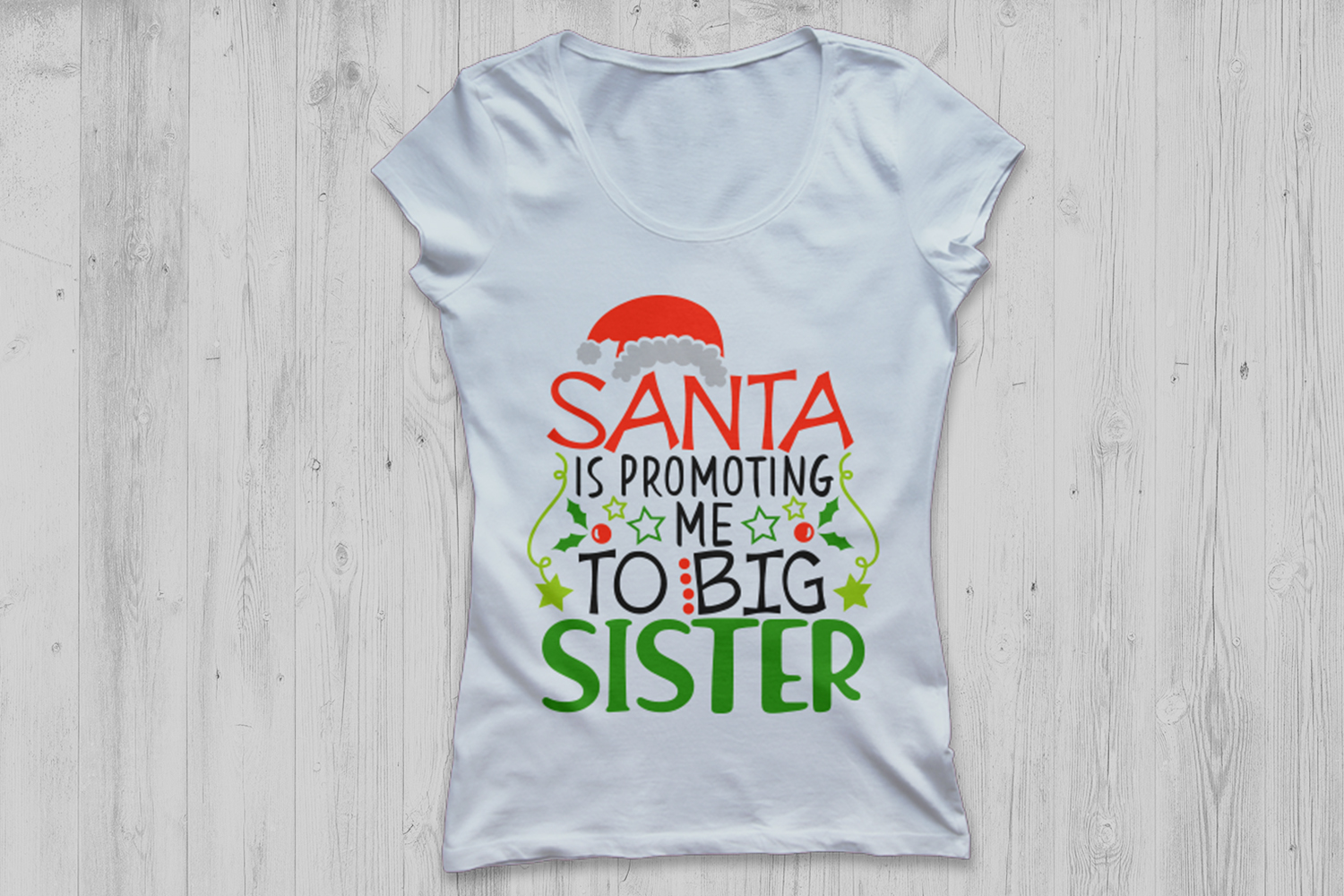 Santa Is Promoting Me To Big Sister Svg, Christmas Svg. example image 2