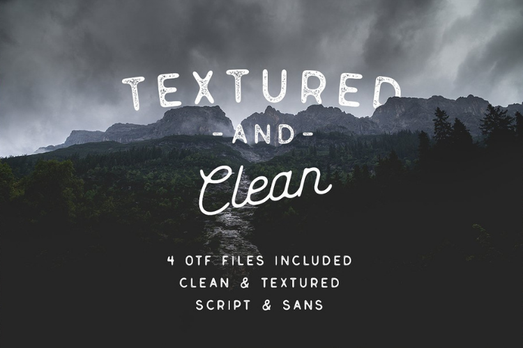 Genuine Script - Textured Type Duo example image 6