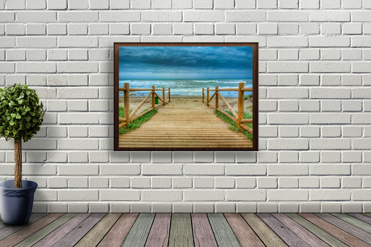 Wooden Promenade On The Beach example image 3