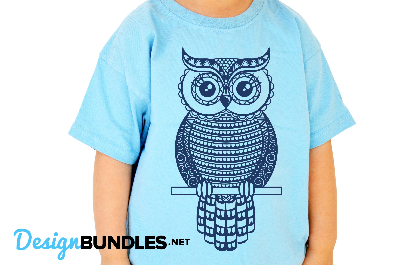 Owl paper cut design example image 6