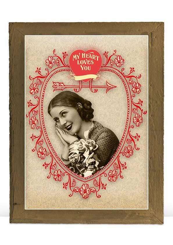 Digital Valentine vintage art print decoration example image 5