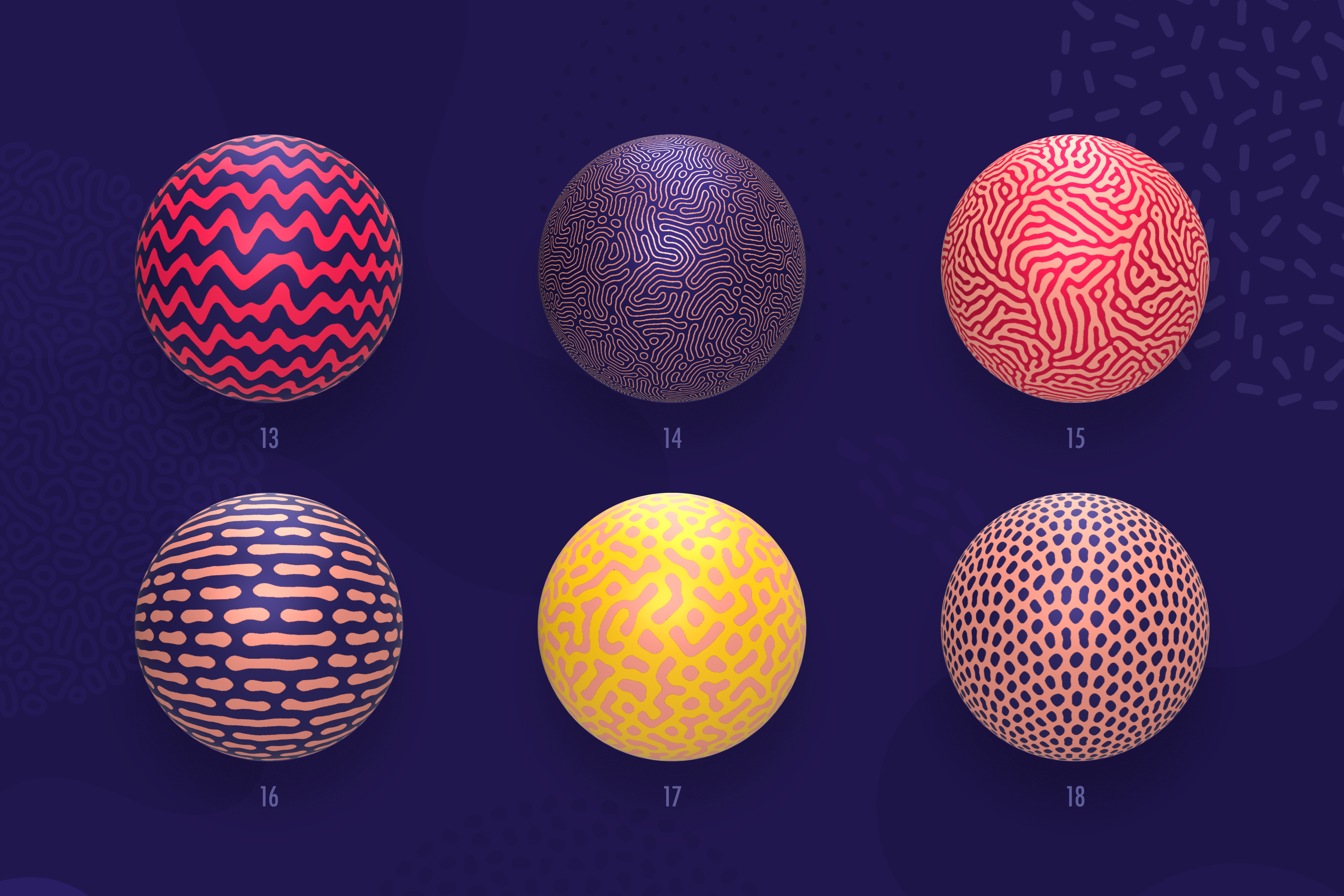 Organic Shapes 100 seamless textures collection example image 7