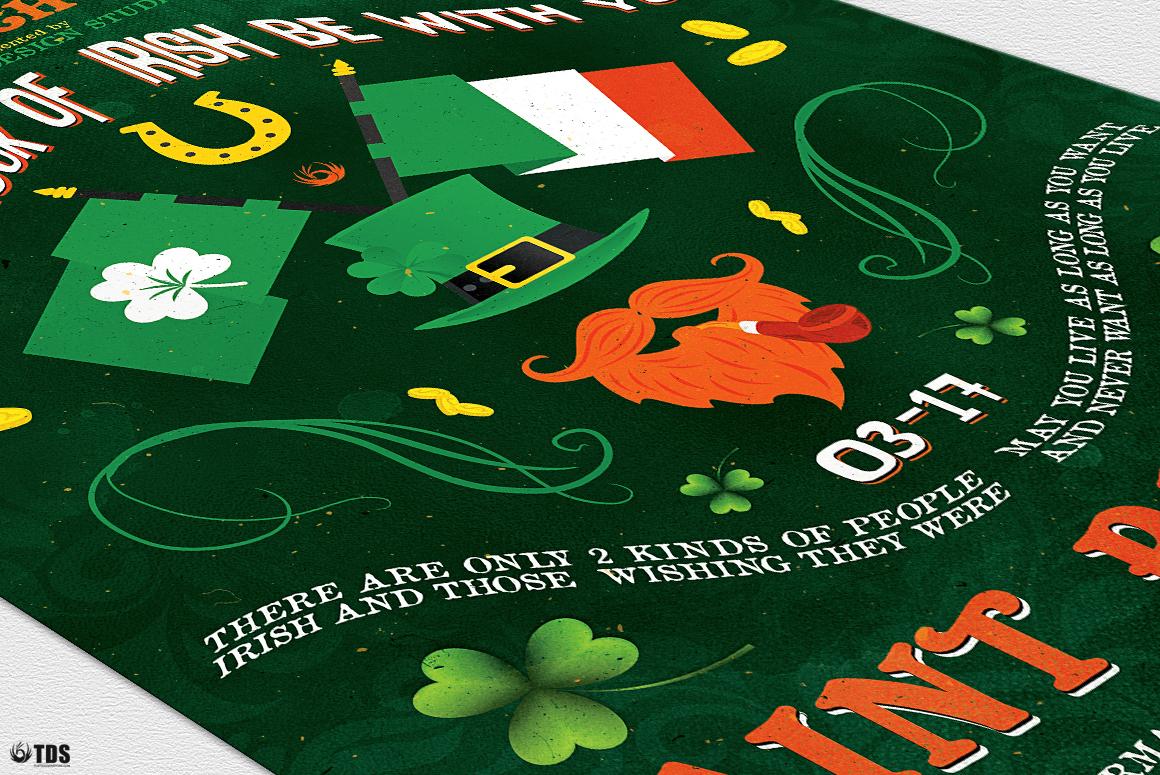 Saint Patricks Day Flyer Template V4 example image 6