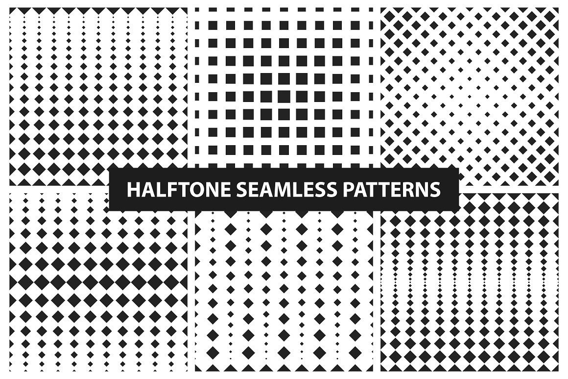 Halftone seamless patterns example image 6