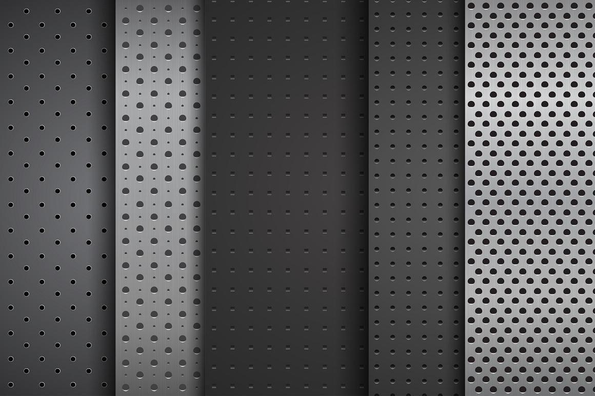Metallic dark textures with holes. example image 10