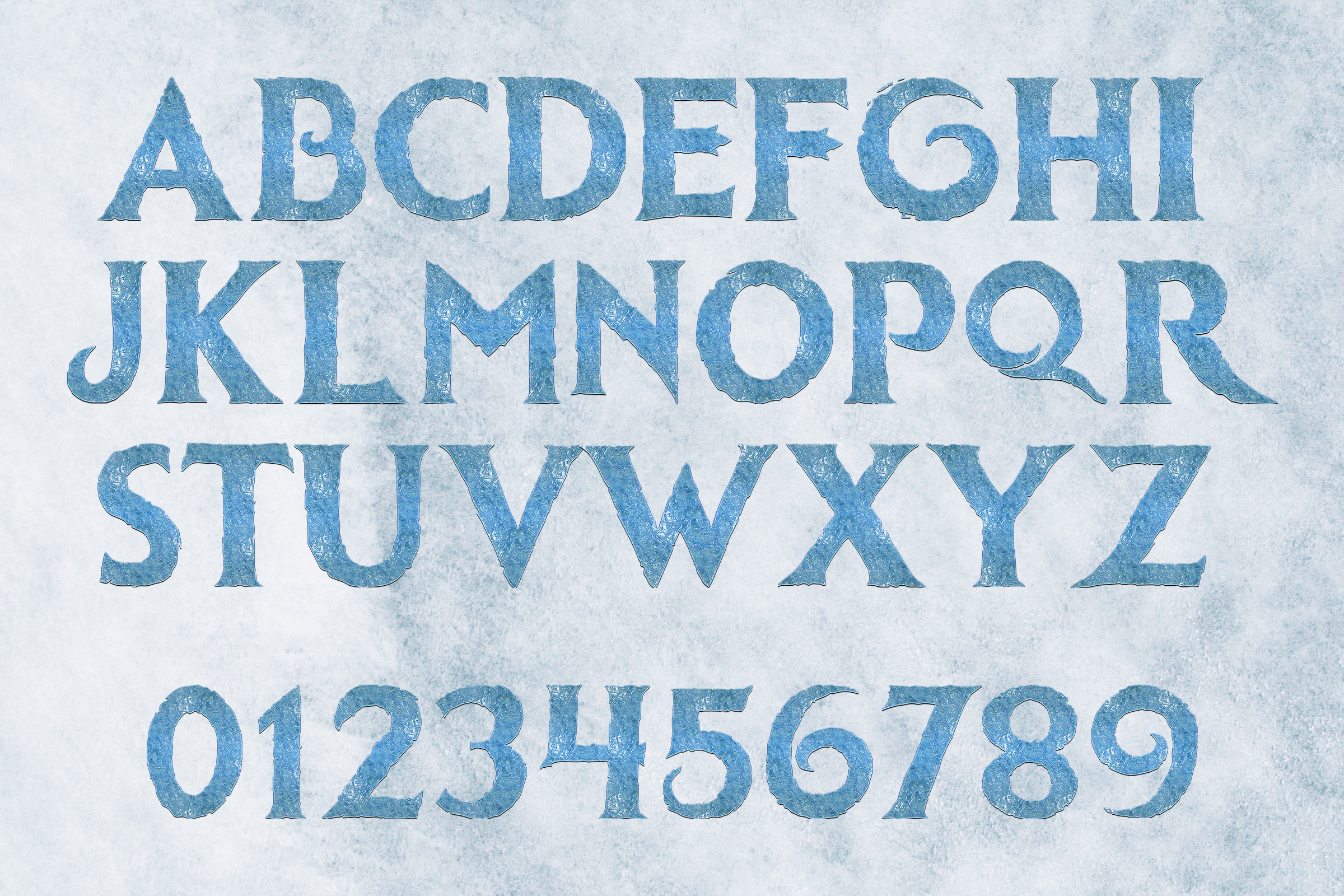 Frozen Alphabet Clipart example image 2
