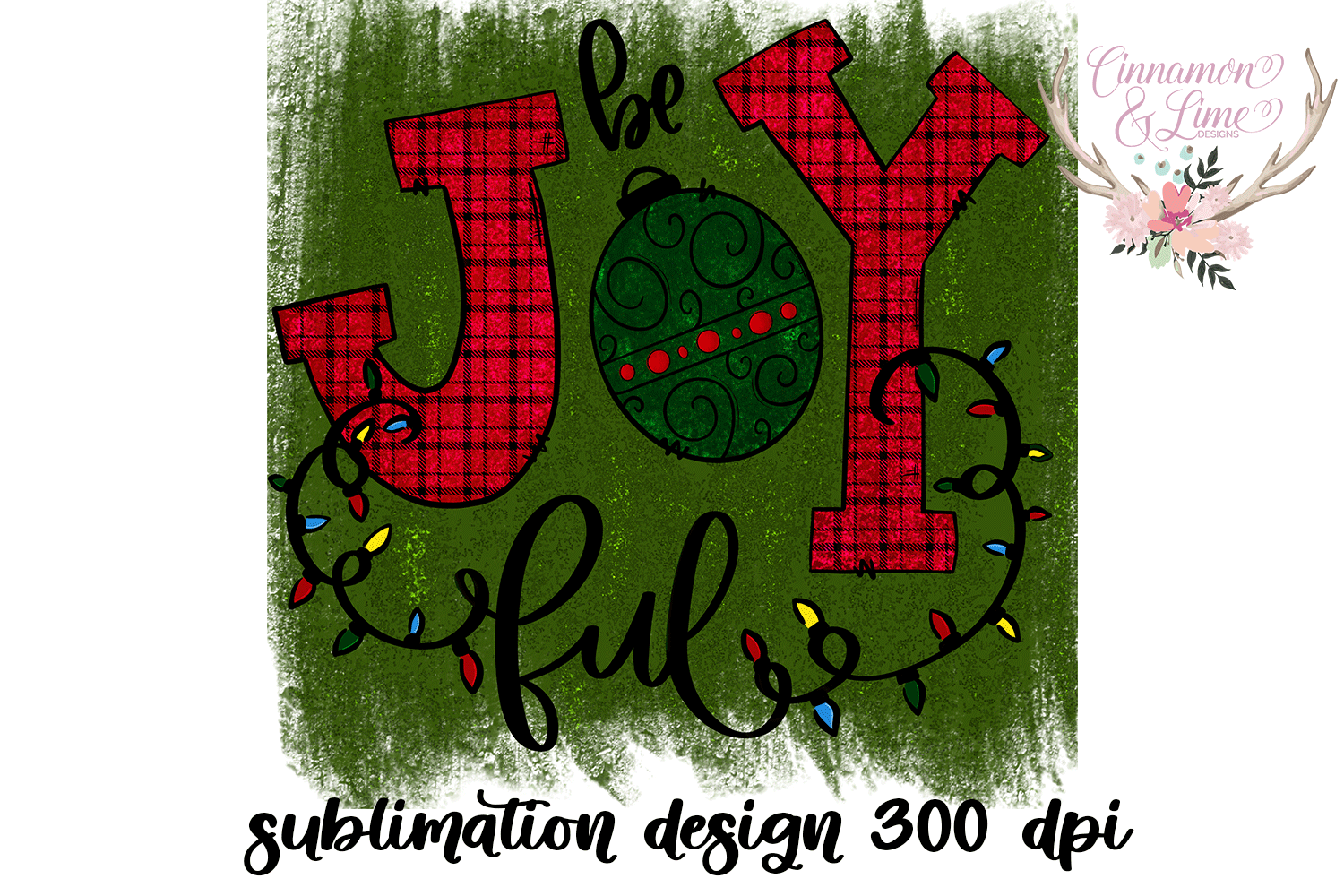 Christmas Sublimation Design - Be Joyful PNG example image 3