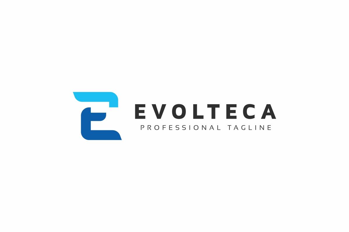 Evolteca E Letter Logo example image 3